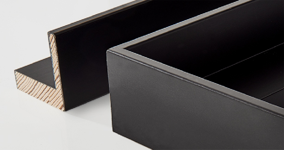 TREND: borde interno hueco, negro 5x32mm