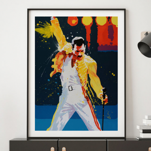 Freddy Mercury de Pavel van Golod como decoración de interiores
