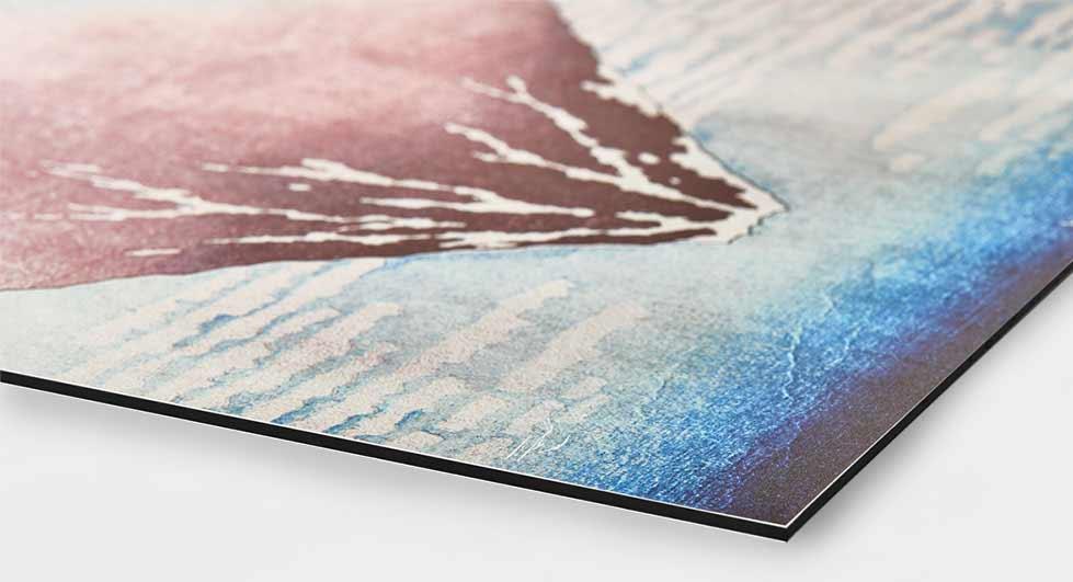 Impresiones y láminas sobre una placa de aluminio Dibond