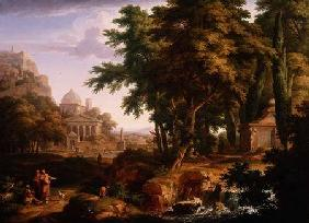 Arcadian Landscape with St. Peter and St. John Healing the Crippled Man