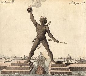 Colossus of Rhodes , from:Bertuch 1792