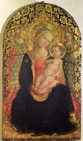 Madonna of Humility with two angels