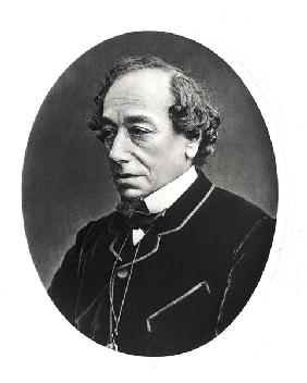 Benjamin Disraeli (1804-81) c.1874 (b/w photo)