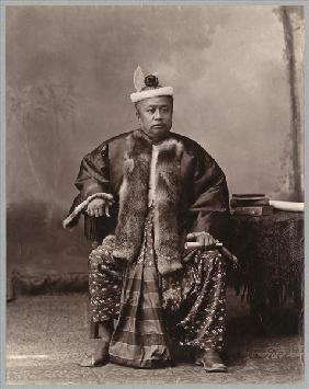 Burmese magistrate, late 19th century (albumen print) (b/w photo)
