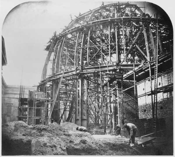 Construction of the British Museum Reading Room, 1854-57