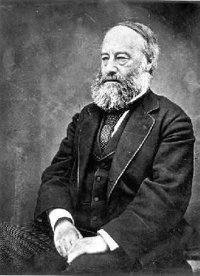 James Prescott Joule (1818-89) (b/w photo)
