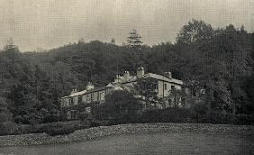 John Ruskin''s (1819-1900) home at Brantwood (b/w photo)