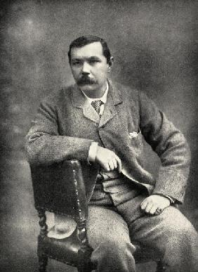 Sir Arthur Conan Doyle (1859-1930) (b/w photo)