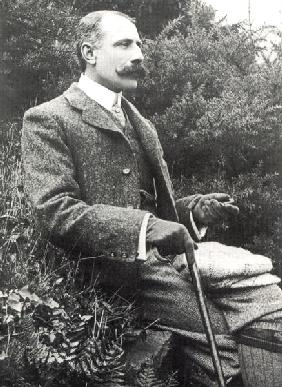 Sir Edward Elgar (1857-1934) (b/w photo)
