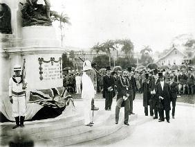 The unveiling of the War Memorial, Port of Spain, Trinidad