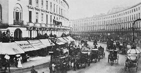 View of Regent Street, c.1884 (b/w photo)