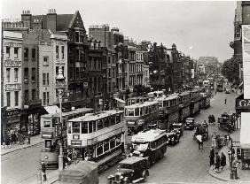 Whitechapel High Street, London, c.1930 (b/w photo)