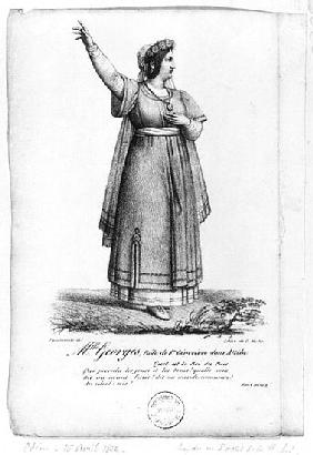 Mademoiselle George in the role of St. Genevieve from Act II, Scene 3 of ''Attila'' Pierre Corneille