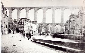 The Viaduct at Morlaix, c.1880 (b/w photo)