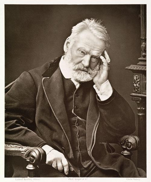 Victor Hugo (1802-85), from ''Galerie Contemporaine'', c.1874-78 (b/w photo)