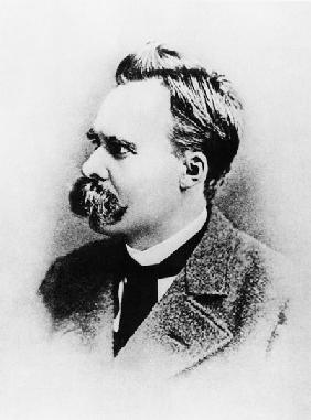 Friedrich Wilhelm Nietzsche in 1883, illustration from ''Nietzsche'' by Daniel Halevy (b/w photo)