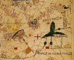 Provence and Northern Italy, from a nautical atlas, 1520 (ink on vellum)