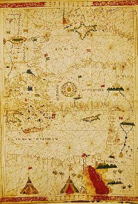 The Eastern Mediterranean, from a nautical atlas, 1520(see also 330914)