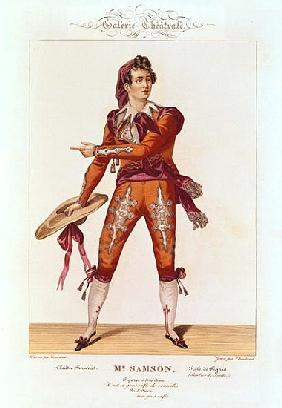 Joseph Isidore Samson (1793-1871) in the role of Figaro in ''The Barber of Seville''; engraved by Ch