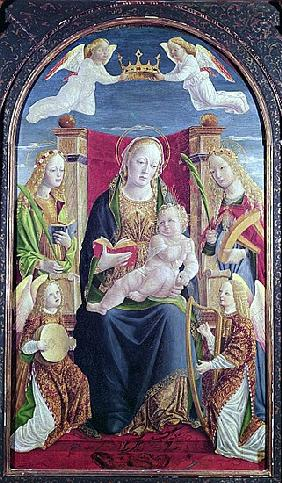 Madonna and Child with Angel Musicians, c.1490-1500