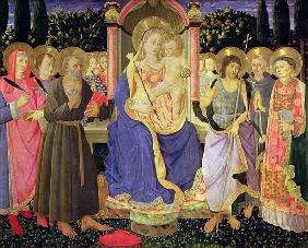 Madonna and Child enthroned with saints (altarpiece)