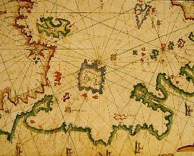 The Island of Lemnos, from a nautical atlas, 1651(detail from 330925)