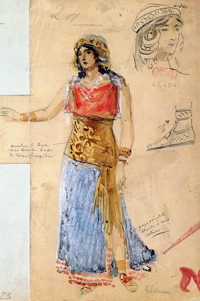 Costume design for the role of Isolde, in the opera ''Tristan und Isolde'',
