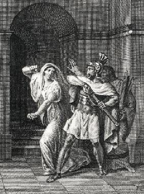 Illustration from 'Horatii' by Pierre de Corneille (1606-84)