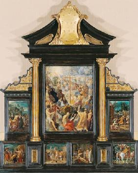 House altar of the cross legend, seven-part total