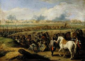 Louis XIV (1638-1715) at the Siege of Tournai