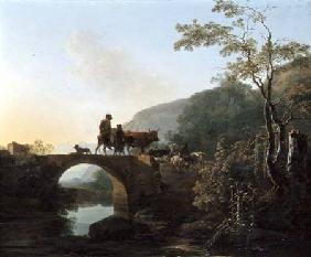 Bridge in an Italian landscape