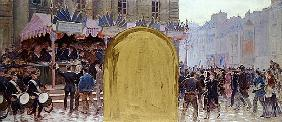 Enrolment of the volunteers, Place du Pantheon