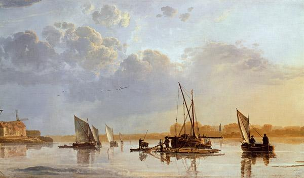 Boats on a River (detail)