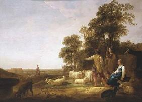 A Landscape with Shepherds and Shepherdesses