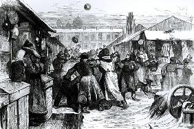 Football in the Jews'' Market, St. Petersburg, from the ''Illustrated London News'', 18741874
