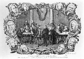 The Cafe Procope; engraved by Jean Francois Badoureau (b.1789)
