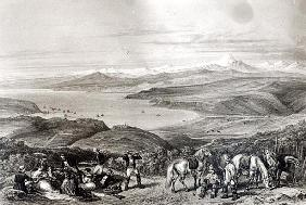 Distant View of the Aconcagua Volcano, from ''Historia de Chile'' ; engraved by F. Lehnert
