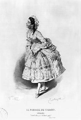 Suzanne, illustration from Act II Scene 17 of ''The Marriage of Figaro'' Pierre Augustin Caron de Be
