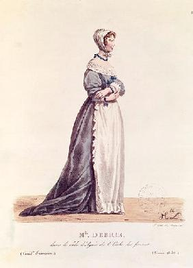 Madame Debrie in the role of Agnes in ''L''Ecole des Femmes'' in 1680, from ''Costumes de Theatre de