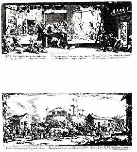 The Pillage of a Farm and The Razing of a Village, plates 5 and 7 from ''The Miseries and Misfortune