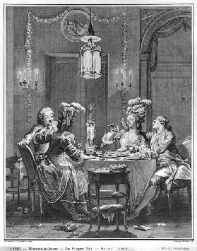 The Gourmet Supper; engraved by Isidore Stanislas Helman (1743-1809) 1781