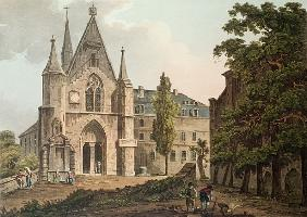 The College de Navarre in Paris; engraved by I. Hill
