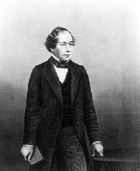 Benjamin Disraeli; engraved by D.J.Pound from a photograph