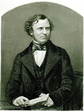 Edward Henry Smith Stanley, Lord Stanley; engraved by D.J. Pound from a photograph, from ''The Drawi