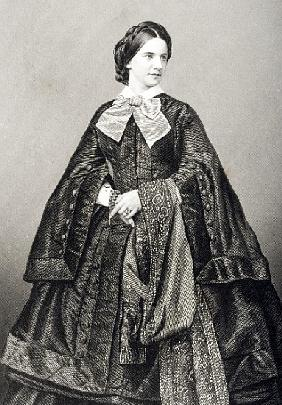 Mademoiselle Victoire Balfe (1837-71) ; engraved by D.J. Pound from a photograph, from ''The Drawing