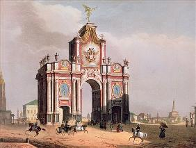The Red Gate in Moscow, printed Lemercier, Paris, 1840s