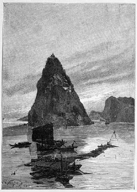 Rock of the Little Orphan on the Yangtze River