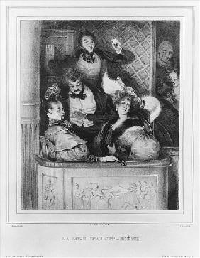 A front theatre box; engraved by Julien