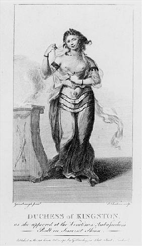 Elizabeth Chudleigh (1720-88) Duchess of Kingston as She Appeared at the Venetian Ambassador''s Ball