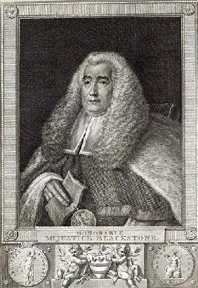 Honourable Mr Justice Blackstone; engraved by Hall